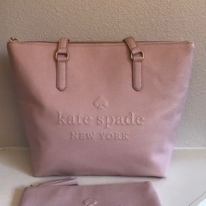 kate spade Bags - kate spade pink tote and pouch set